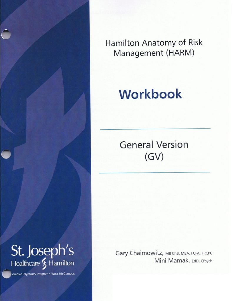 Cover of the Hamilton Anatomy of Risk Management (HARM) Workbook, General Version